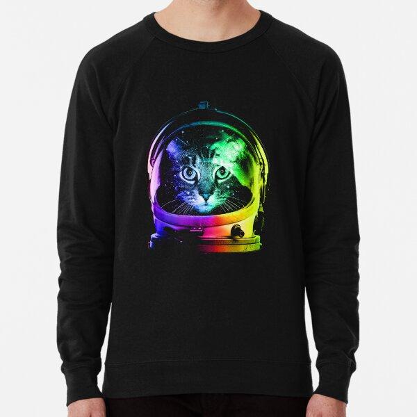 Astronaut Cat Lightweight Sweatshirt