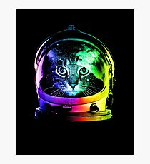 Astronaut Cat Photographic Print