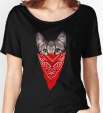 Gangster Cat Women's Relaxed Fit T-Shirt