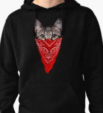 Gangster Cat Pullover Hoodie