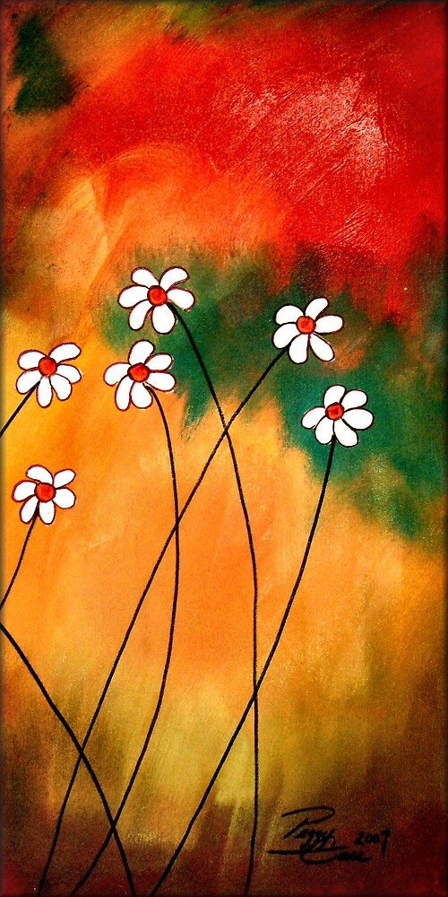 Dynamic Daisies 3 by Peggy Garr