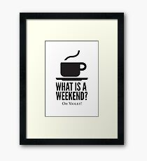 Weekend in Downton Abbey Framed Print