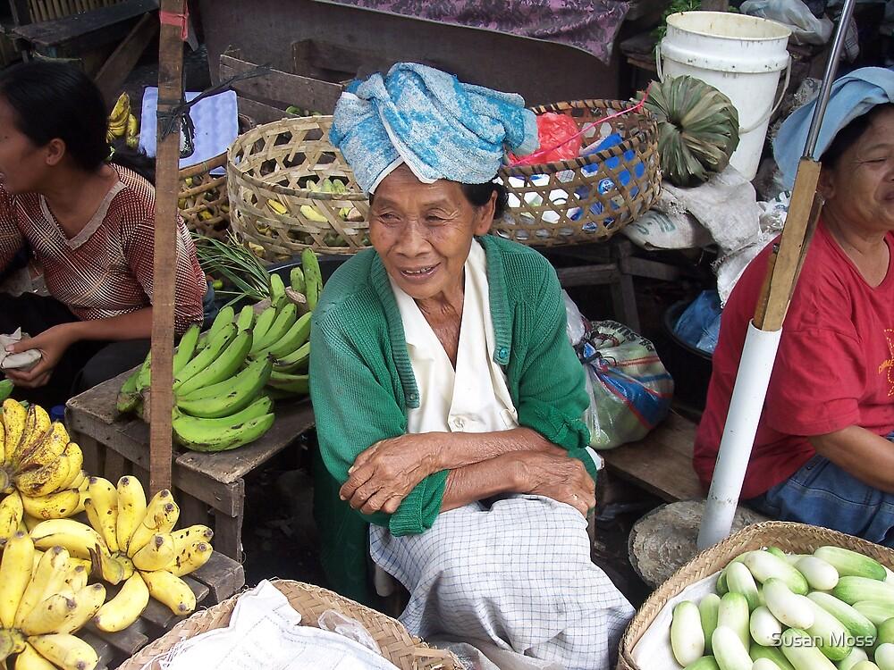 Market seller by Susan Moss