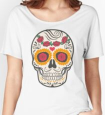 skull rose Women's Relaxed Fit T-Shirt