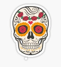 skull rose Sticker