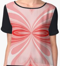 Red Flare Chiffon Top