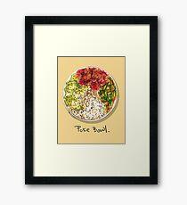 Poke bowl Framed Print