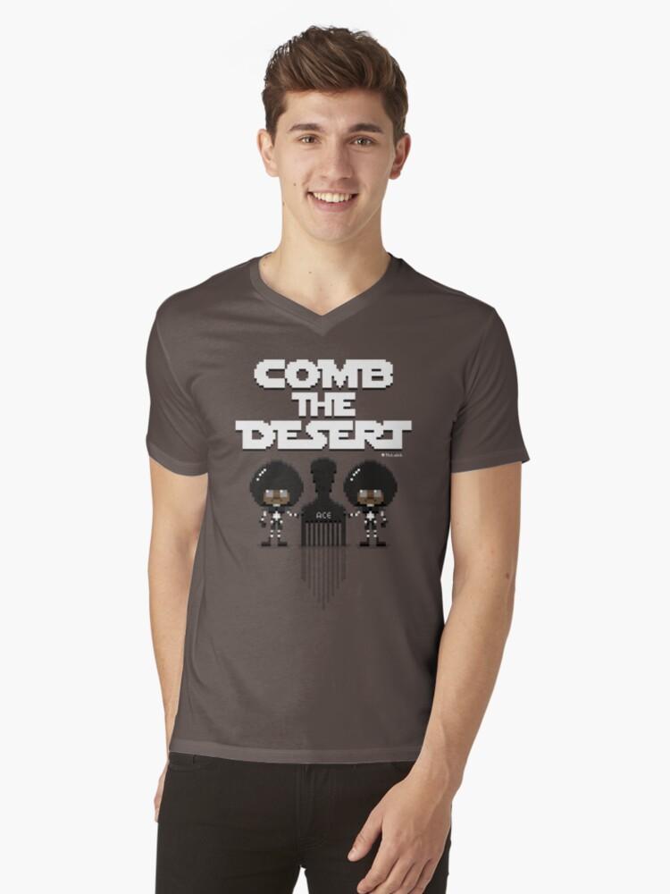 Comb The Desert! 16-bit Spaceballs Mens V-Neck T-Shirt Front