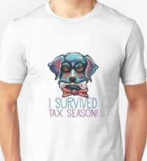 I Survived Tax Season Tax Dog Unisex T-Shirt