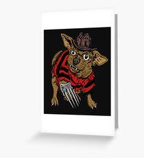 NIGHTMARE DOG Greeting Card