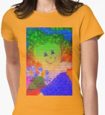 Doll in a blue hat  Women's Fitted T-Shirt