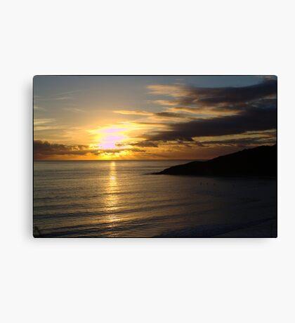 Langland Bay Sunset Canvas Print