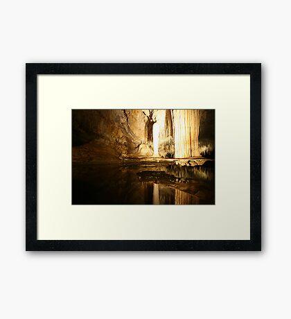 Lake Cave Framed Print