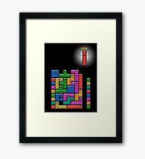 Tetris Excitement Framed Print