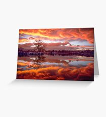 Rolling Thunder Sunset Greeting Card
