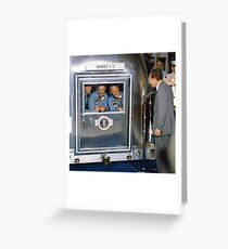 Apollo 11 Crew In Quarantine Greeting Card