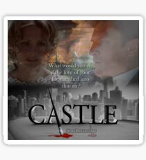 What would you do if the love of your life vanished into thin air? #Castle Sticker