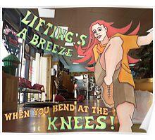bending knees Poster