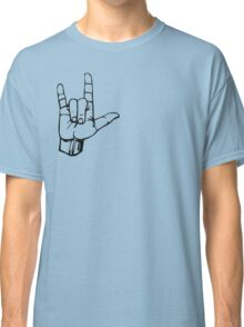 Hand I Love You ILY ASL Symbol Gesture  Classic T-Shirt