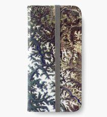Satellite Image North Cascades National Park iPhone Wallet/Case/Skin