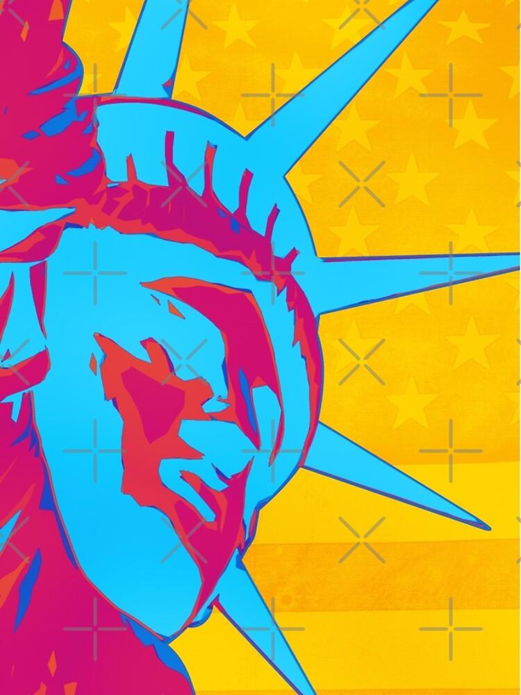 Pop Art Patriotic Liberty by morningdance