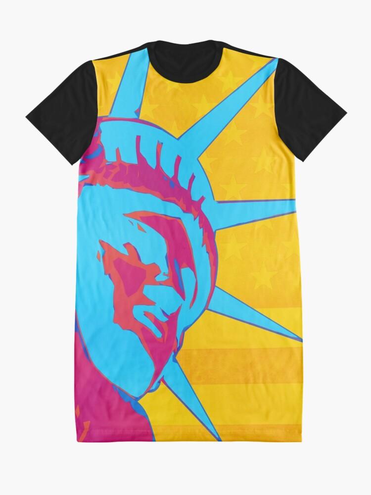 Alternate view of Pop Art Patriotic Liberty Graphic T-Shirt Dress