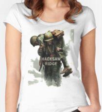 Hayleyart Custom Sticker of Hacksaw Ridge hy01 Women's Fitted Scoop T-Shirt