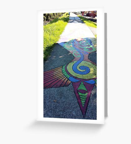 Walking on Rainbows Greeting Card