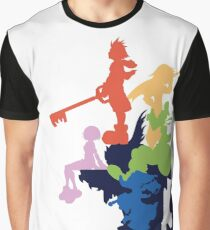Kingdom Hearts Stylized Cover Art Graphic T-Shirt