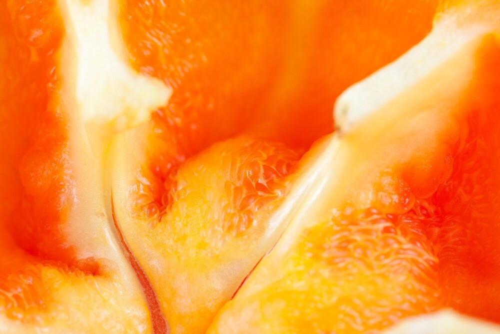 Orange Bell Pepper Macro by Nicolas Raymond