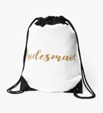 Bridesmaid: Drawstring Bags | Redbubble