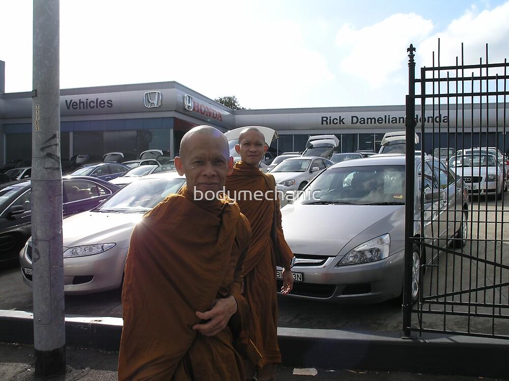 buddist monks on auto alley by bodymechanic