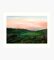 lush green Ballybunion links golf course Art Print