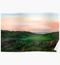 lush green Ballybunion links golf course Poster