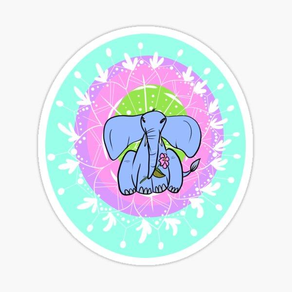 Elephant Mandala Sticker