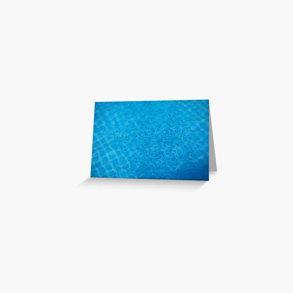 Bubbly Blue Greeting Card