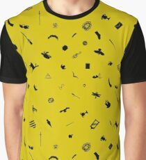 Yellow and Black Graphic T-Shirt