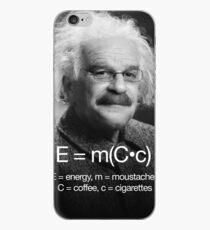 Energy = moustache (coffee * cigarettes) iPhone Case