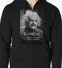 Energy = moustache (coffee * cigarettes) Zipped Hoodie