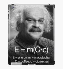 Energy = moustache (coffee * cigarettes) iPad Case/Skin