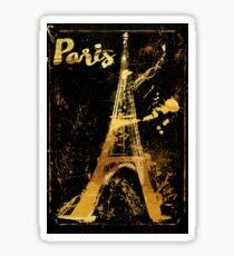 Golden Paris Eiffel Sticker