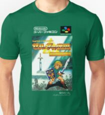 The Legend of Zelda: Triforce of the Gods - A Link to the Past - Japanese Box art T-Shirt