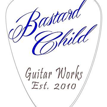 Bastard Child Guitar Works Shirt Design with Pick by seansdigitalart