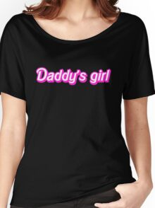 Hot Pink Daddy's Girl Women's Relaxed Fit T-Shirt