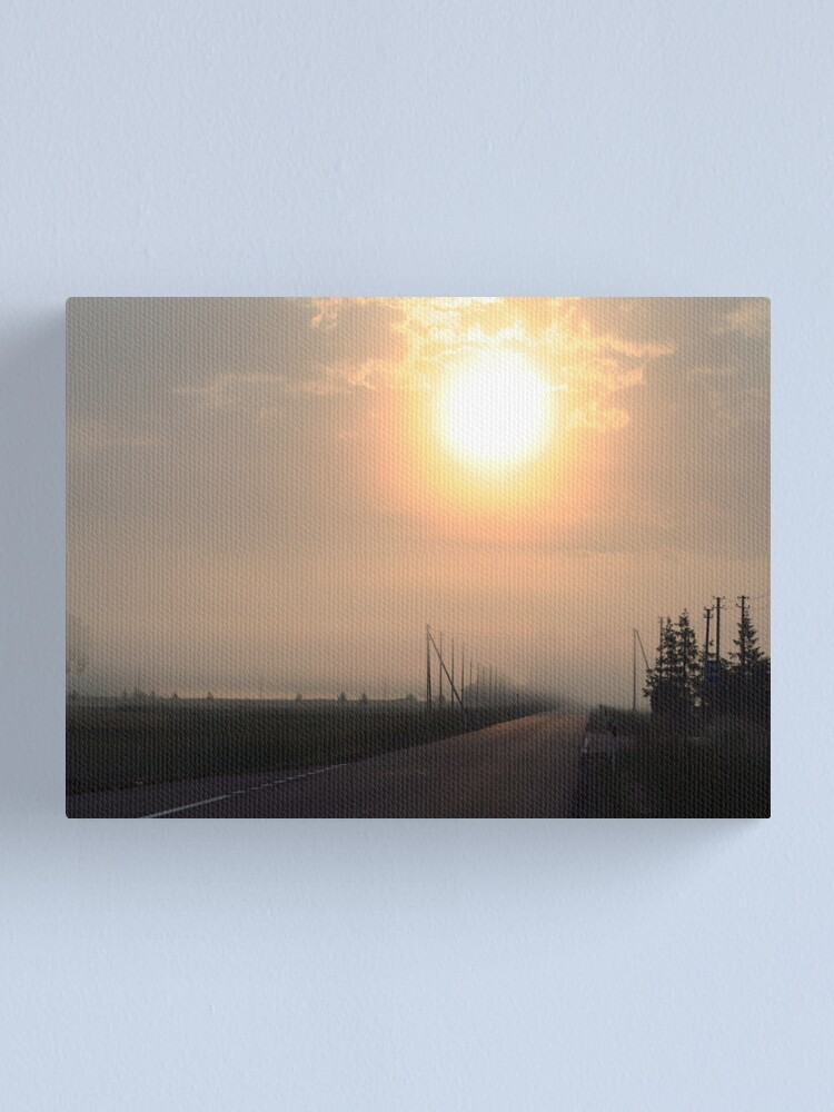 Alternate view of The Way in Mist Canvas Print