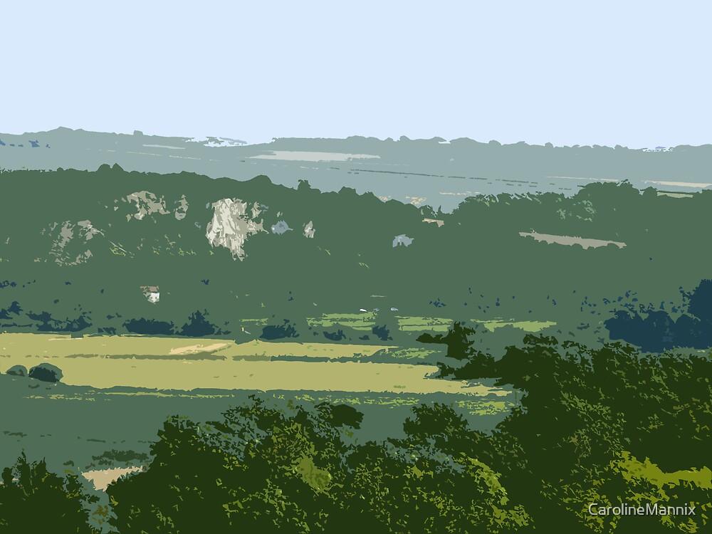 Sussex Landscape Abstract by CarolineMannix