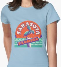Sarasota Florida Vintage Travel Decal Womens Fitted T-Shirt