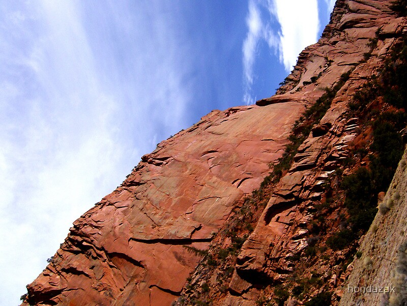 red canyon wall from navajo nm by hondazak