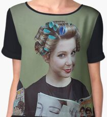 It's My Mother's Beauty Parlor Women's Chiffon Top