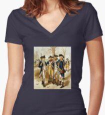 Infantry Of The Revolutionary War Women's Fitted V-Neck T-Shirt